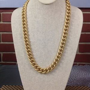 BRUSHED GOLD LARGE LINK NECKLACE VINTAGE
